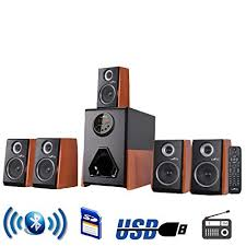 office speaker system. BeFree Sound Luxury Home And Office 5.1 Channel Surround Bluetooth Speaker System With 5 Speakers S