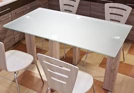 Moderner Esstisch Küchentisch 140cm Tisch Eiche Tisch Glastisch