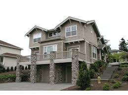 front sloping lot house plans hillside home plans with basement sloping lot house lofty for luxury