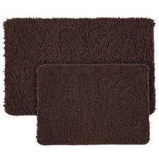 chocolate 21 in x 32 in memory foam 2 piece bath mat
