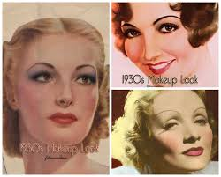 gone were the days of the intensive 1920s black eye makeup and boy ish rebellious flapper style instead more feminine look was por softer