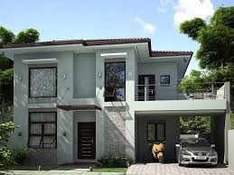 simple modern home design. 2 Storey Simple Modern House Home Design P