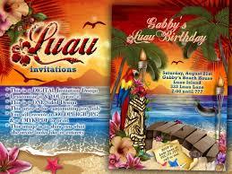 Luau Party Invitations Hawaiian Theme Party Luau Party Etsy
