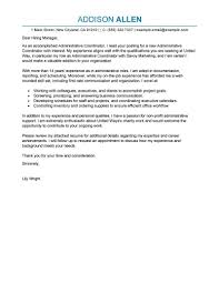 Resume For Non Profit Job Best Administrative Coordinator Cover Letter Examples LiveCareer 65