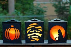 Make graveyard paper lanterns with this tutorial. | Halloween from Brit +  Co | Pinterest | Paper lanterns, Graveyards and Tutorials