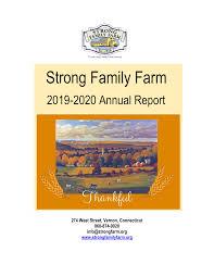 274 West Street, Vernon, Connecticut 860-874-9020 info@strongfarm.org  www.strongfamilyfarm.org
