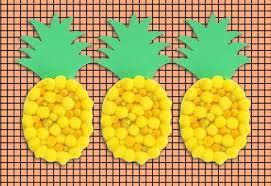 kids craft make a pom pom pineapple mypoppet com au