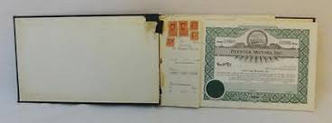 Selling A Share Certificate Vintage Stock Certificate Book Griffin Construction Company