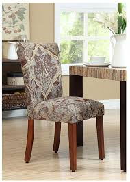 amazon parsons dining chairs upholstered chairs dining blue and brown paisley set of 2 chairs