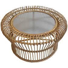 italian rattan coffee table in style of franco albini for at 1stdibs