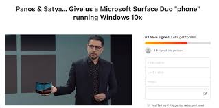 Windows 10 Petition Change Org Petition To Get Windows 10x On The Surface Duo