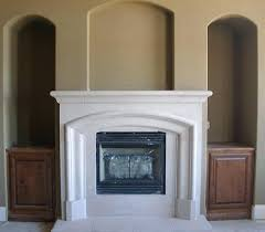 arched stone fireplace surrounds