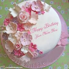 Background Birthday Cake With Name And Picture