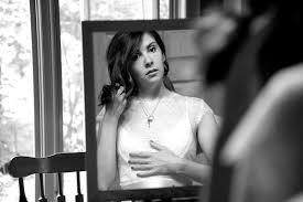 Αποτέλεσμα εικόνας για black & white bride in the mirror