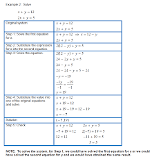 solving systems of linear equations in two variables using the substitution method 907 png 908 png 909 png