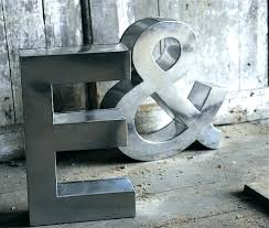 large metal letters for wall metal letters for wall decor metal letter wall decor large metal
