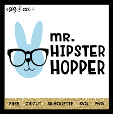 free svg cut file for cricut and silhouette diy projects mr hipster hopper bunny easter