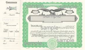 Stock Certificats Goes Eagle Stock Certificates Green 100 Per Package