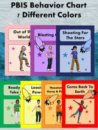 Space Theme Classroom Expectations Posters Pbis Behavior Clip Chart