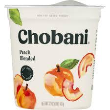 chobani non fat greek yogurt peach