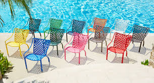 patio ideas bright colored chair cushions image of retro