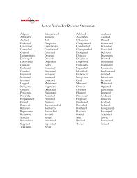 action verbs for resume resume badak
