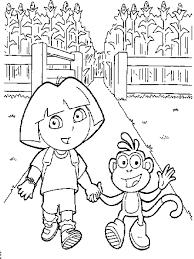 Kleurplaat Dora De Verkenner Dora Little Kids Doodle Dora