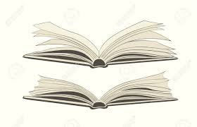 drawing an open book on white background stock vector 68973646