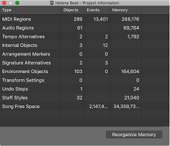 Reorganize Photos Logic Pro X View Project Information And Reorganize Memory