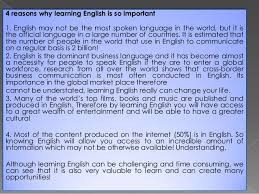 the importance of the english language 2 what is the importance of english language