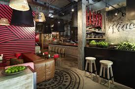 interior design for a small restaurant with graffiti wall art ideas