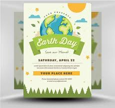 Psd Earth Day Flyer 1 Earth Day Save Environment Posters