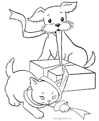 coloring book pages of kittens