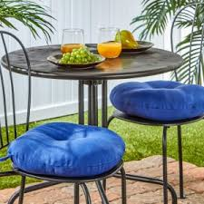 S Greendale Home Fashions 15 In Round Outdoor Bistro Chair Cushion  Set Of 2
