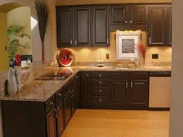 What Color To Paint Kitchen With Dark Cabinets Custom Decorating Design