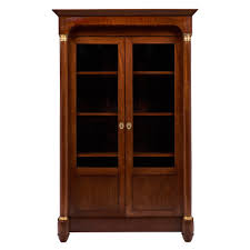 antique french empire style walnut bookcase  jean marc fray