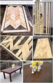 easy diy outdoor dining table. diy: chevron patio table easy diy outdoor dining