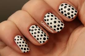 Black and white nail art s - how you can do it at home. Pictures ...