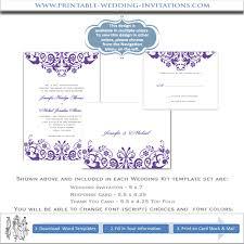 Wedding Invitations Templates Purple Purple Printable Wedding Invitation Kits Download Them Or Print