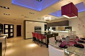 types of kitchen lighting. This Kitchen Shows Of Two Different Types Recessed Lighting - The Ambient Blue And G