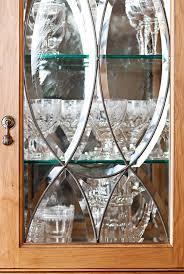 kitchen cabinets glass doors design style:  enlarge beveled glass door details