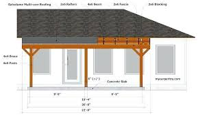 wood patio roof plans page 7 line