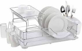 Home Basics 2 Tier Dish Rack
