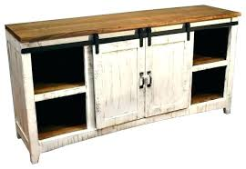barn door media center. Barn Door Buffet Entertainment Center Inspiring Rustic White Media Console Farmhouse Home Interior Sliding Table Hardware D