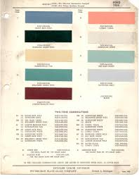 Paint Chips 1954 Ford Truck Lincoln Mercury Ford