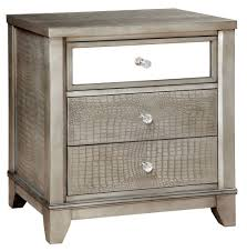 M And S Bedroom Furniture Bryant Silver Crocodile Leatherette Bedroom Set From Furniture Of