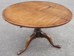 georgian oak round tripod coffee table