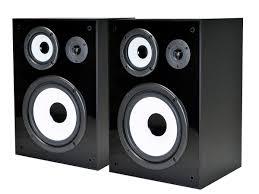 speakers 8 inch. monoprice 8251 8 inches 3 way bookshelf speakers pair black ebay inch