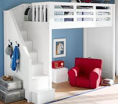 loft bed with stairs. beautiful loft beds for kids with stairs catalina stair bed pottery barn