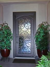front door securityCustom Scroll Iron Entry Door by First Impression Security Doors